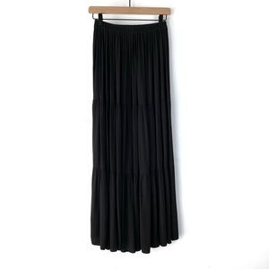 Double D Ranch Wear Black Tiered Maxi Skirt Size S